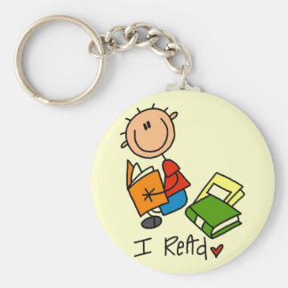I Read Tshirts and Gifts Basic Round Button Key Ring