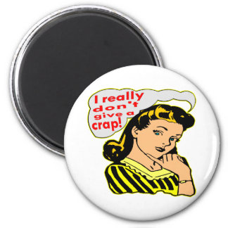 I Really Don't Give A Crap, Retro 6 Cm Round Magnet