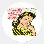 I Really Don't Give A Crap, Retro Sticker