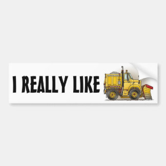 I Really Like Snow Plow Trucks Bumper Sticker