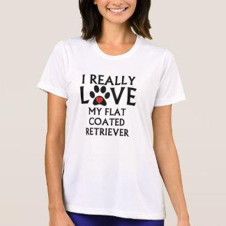 I Really Love My Flat-Coated Retriever Shirt