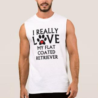 I Really Love My Flat-Coated Retriever Sleeveless Shirts