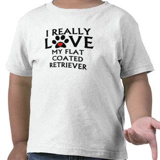 I Really Love My Flat-Coated Retriever T-shirt