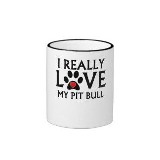 I Really Love My Pit Bull Coffee Mug