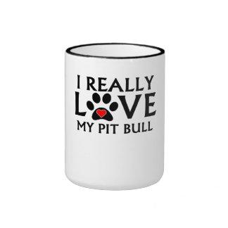 I Really Love My Pit Bull Mug