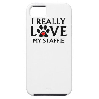 I Really Love My Staffie iPhone 5/5S Cover