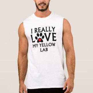 I Really Love My Yellow Lab Sleeveless T-shirts