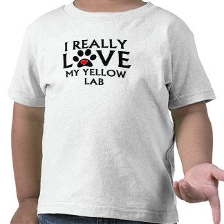 I Really Love My Yellow Lab T Shirts