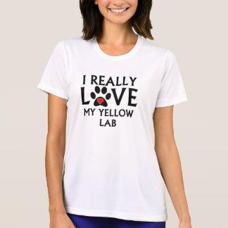 I Really Love My Yellow Lab T Shirt