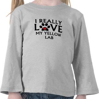 I Really Love My Yellow Lab Shirt