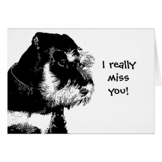 I really miss you! greeting card