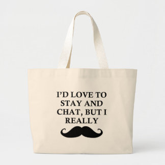 I REALLY MUST DASH LARGE TOTE BAG