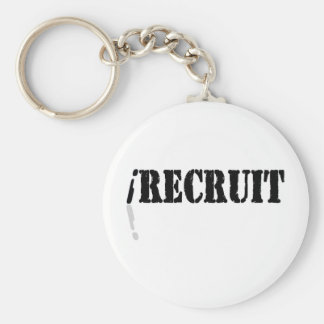 I Recruit Basic Round Button Key Ring