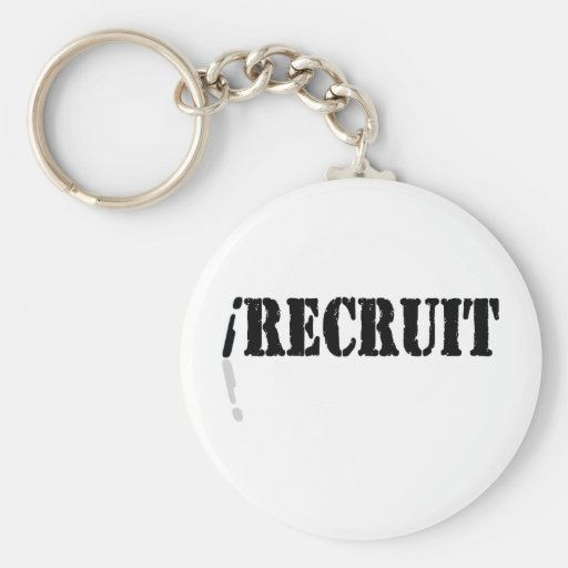 I Recruit Keychains