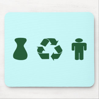 I Recycle Boys-Men Mouse Pads