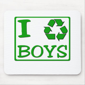 I Recycle Boys Mouse Mats