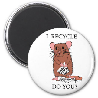 I Recycle, Do You? 6 Cm Round Magnet