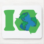 I Recycle Earth Day Mouse Pad
