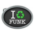 I Recycle Funk Oval Belt Buckles