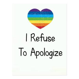 I Refuse to Apologise Postcard