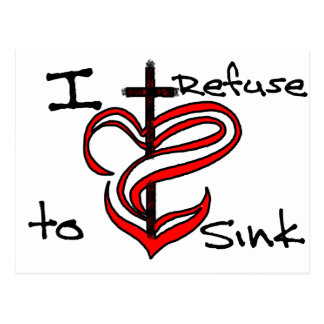 I Refuse to Sink - Red Postcard