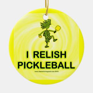 I Relish Pickleball Shirts & Gifts Christmas Ornament