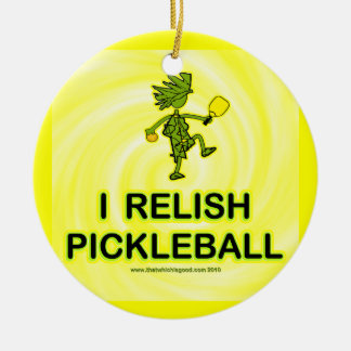 I Relish Pickleball Shirts Gifts Ornament
