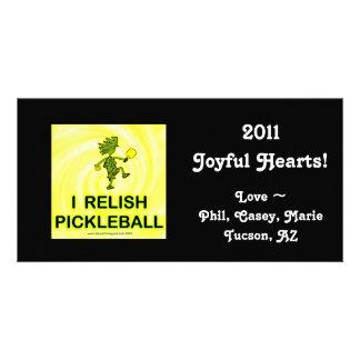 I Relish Pickleball Shirts Gifts Personalized Photo Card