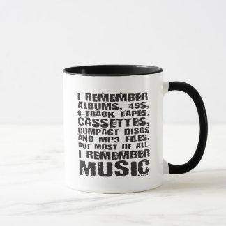 I Remember 45s, 8-tracks, cassettes, CDs Music Mug