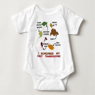 I Remember My First Thanksgiving Baby Bodysuit