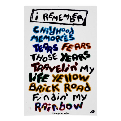 I Remember Print