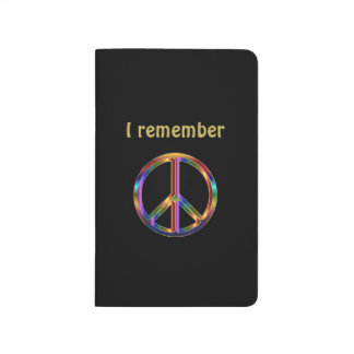 """I Remember"" Text with Peace Symbol Journal"