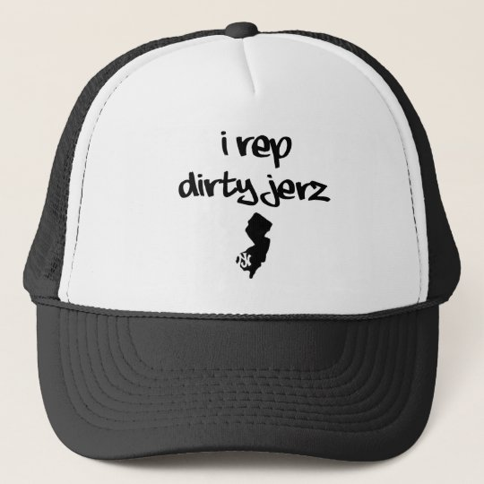 i rep dirty jerz trucker cap