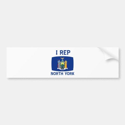 I  Rep New York Designs Bumper Sticker
