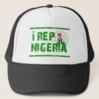 I rep Nigeria Trucker Hat