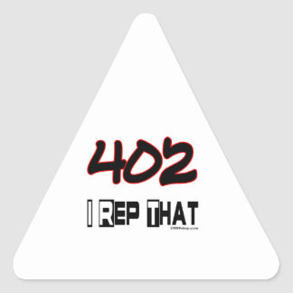 I Rep That 402 Area Code Triangle Sticker