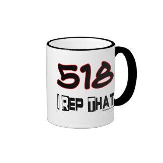I Rep That 518 Area Code Coffee Mugs
