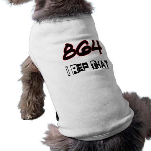 I Rep That 864 Area Code Dog T Shirt