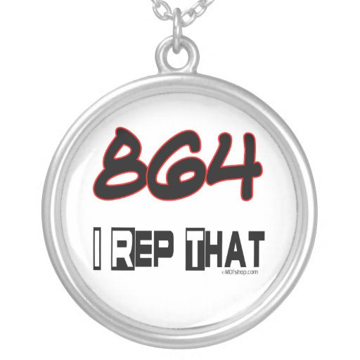 I Rep That 864 Area Code Custom Jewelry