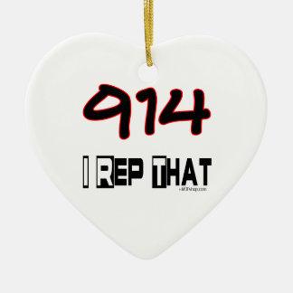 I Rep That 914 Area Code Ornament