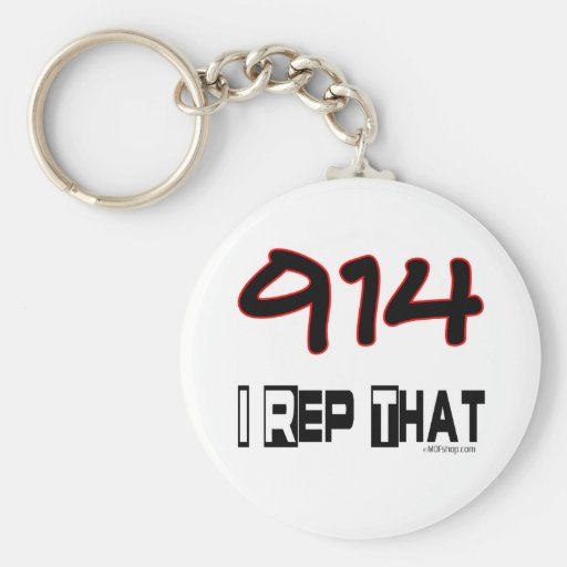 I Rep That 914 Area Code Key Chains
