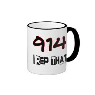 I Rep That 914 Area Code Coffee Mugs