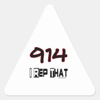 I Rep That 914 Area Code Triangle Sticker