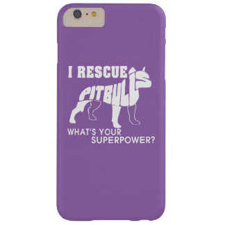 I RESCUE PIT BULLS BARELY THERE iPhone 6 PLUS CASE