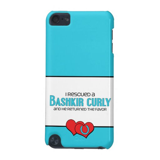 I Rescued a Bashkir Curly (Male Horse) iPod Touch 5G Cases