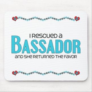 I Rescued a Bassador (Female) Dog Adoption Design Mousepads