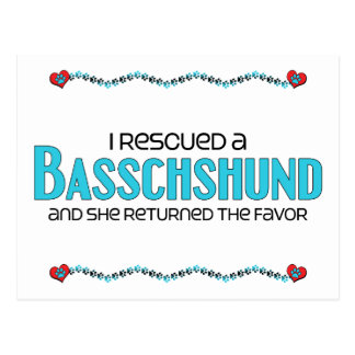I Rescued a Basschshund (Female) Dog Adoption Postcard