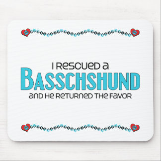 I Rescued a Basschshund (Male) Dog Adoption Design Mouse Pad