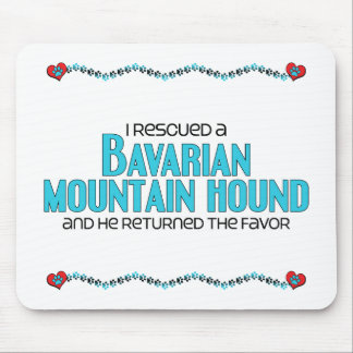 I Rescued a Bavarian Mountain Hound (Male Dog) Mouse Pad