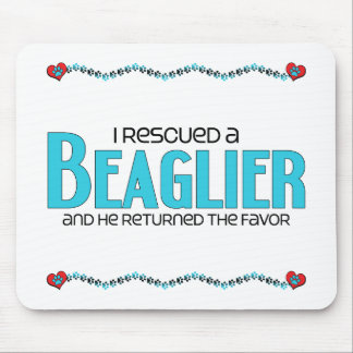 I Rescued a Beaglier (Male) Dog Adoption Design Mouse Pad